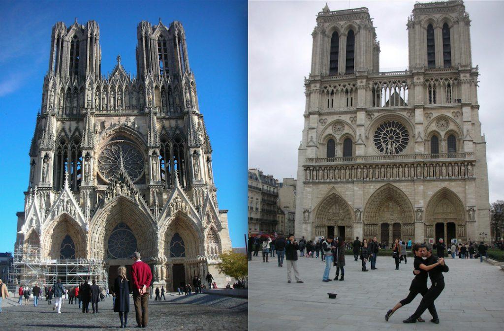 Cathédrale Notre-Dame de Reims ランス・ノートルダム大聖堂とパリ・ノートルダム大聖堂 Cathédrale Notre-Dame de Paris