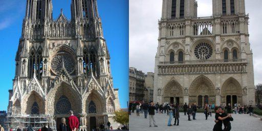 パリ・ノートルダム大聖堂 ー ランス・ノートルダム大聖堂 (レオナール・フジタ)