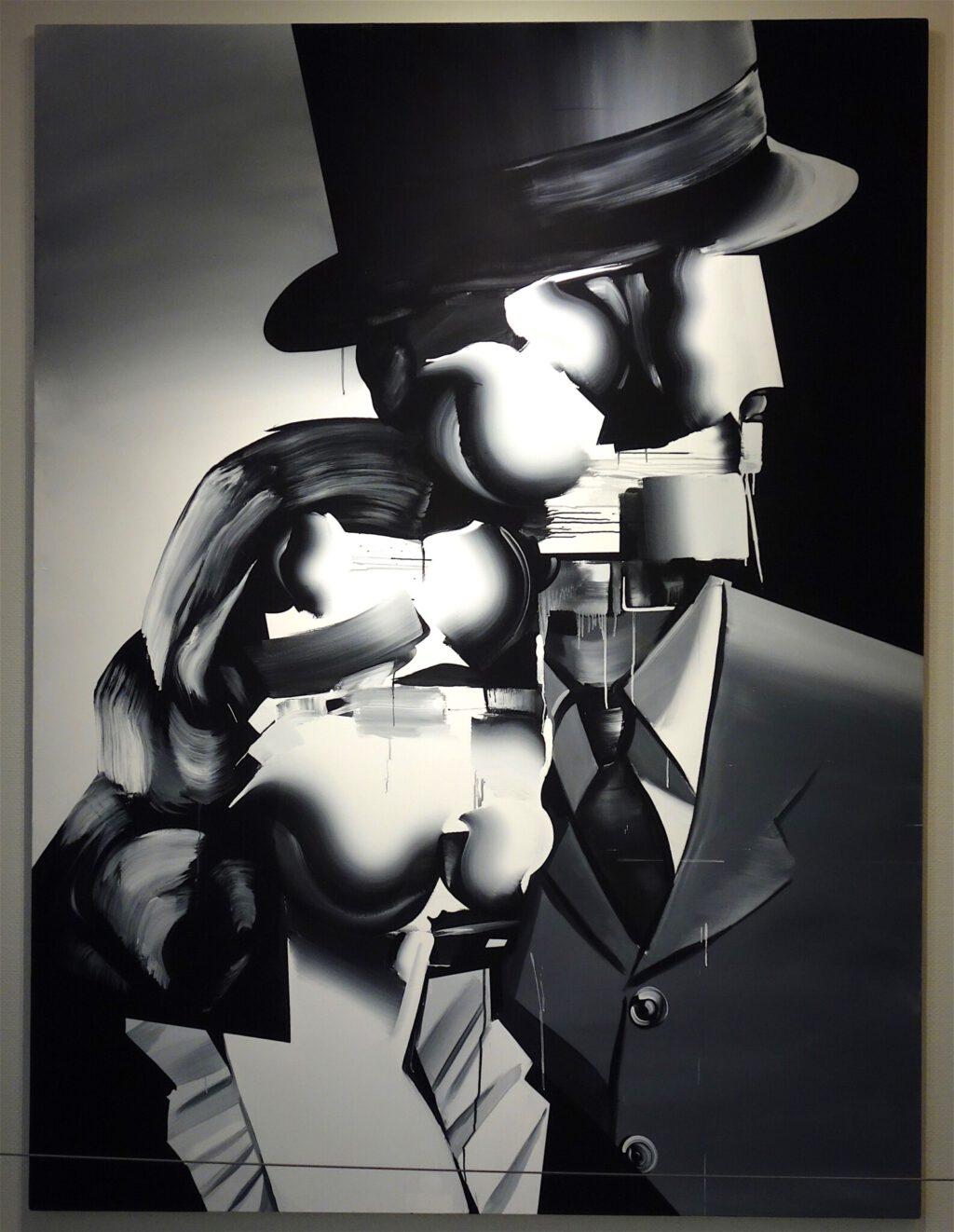 "GOKITA Tomoo 五木田智央 ""Divorce"" 2008, Acrylic on canvas, 259.4 x 194.4 cm"