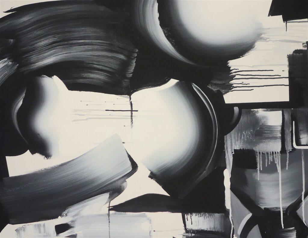"GOKITA Tomoo 五木田智央 ""Divorce"" 2008, Acrylic on canvas, detail"