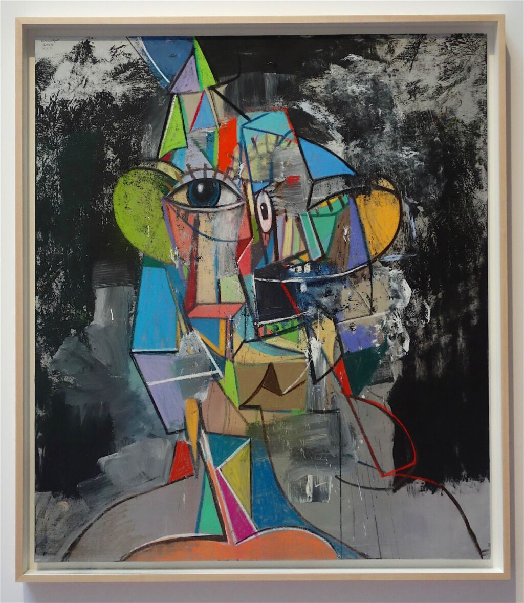 "George Condo ジョージ・コンド ""Untitled"" 2016, Acrylic, metallic, paint, charcoal and pastel on linen, 167.6 x 144.8 cm"