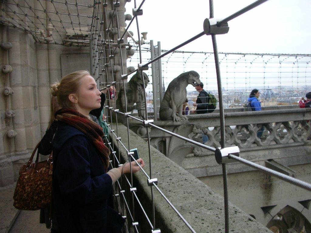 Top of Cathédrale Notre-Dame de Paris パリ・ノートルダム大聖堂