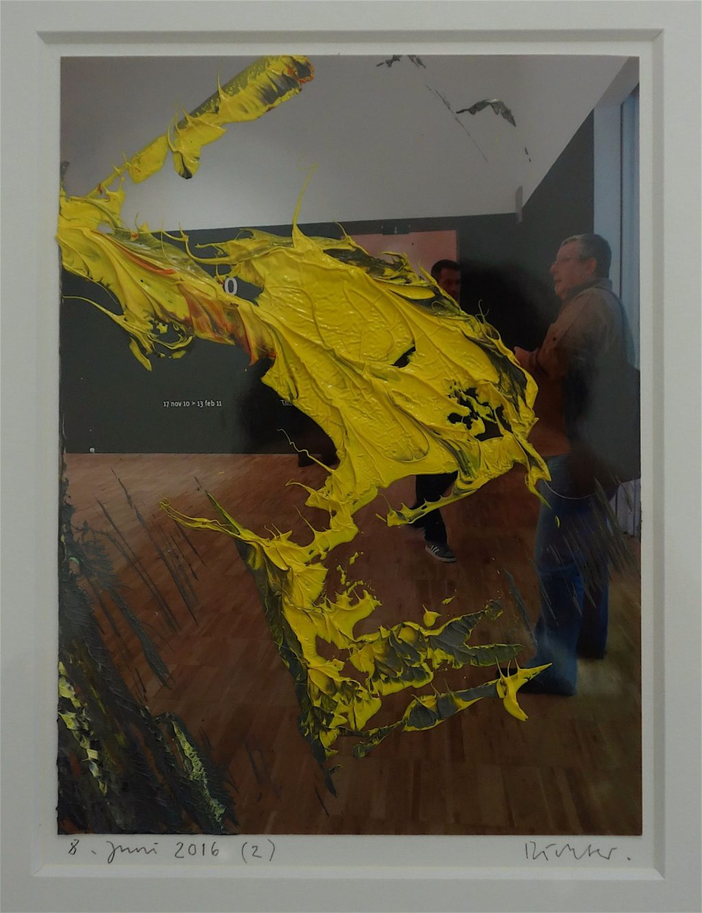 Work by Gerhard Richter, oil on photograph 2016 @ WAKO WORKS OF ART