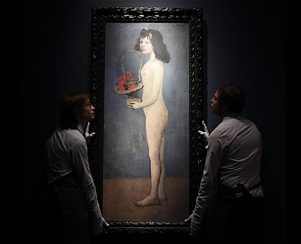 Pablo Picasso Fillette à la corbeille fleurie 1905