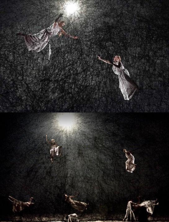 """Set design by SHIOTA Chiharu @ """"Matsukaze"""" by HOSOKAWA Toshio & Sasha WALTZ @ New National Theatre, Tokyo, Feb. 2018"""