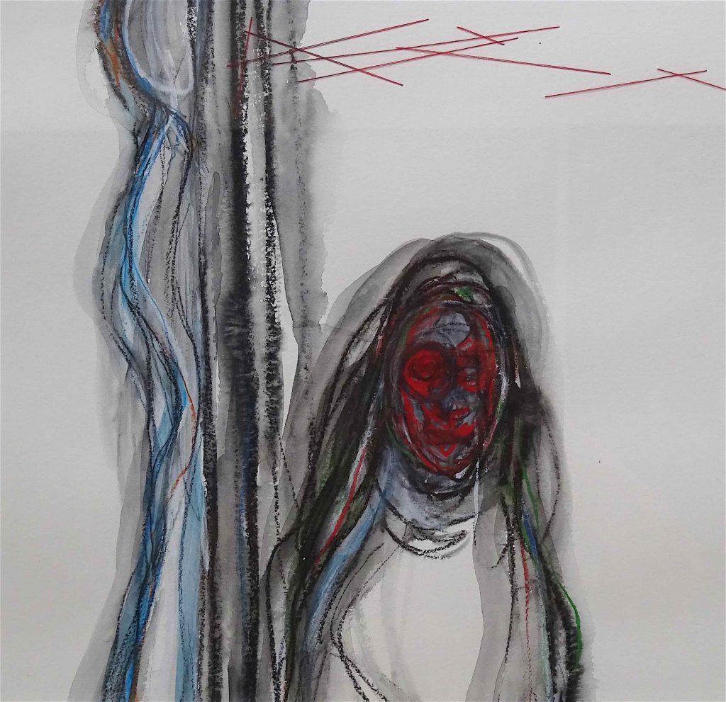 work by SHIOTA Chiharu 塩田千春作、部分 2018