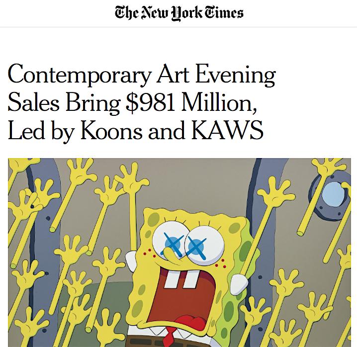 カウズ @ ニューヨーク・タイムズ