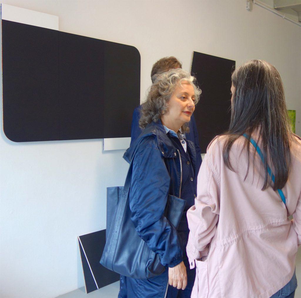 """五月女 哲平 SOUTOME Teppei (wall, left) """"black, white and others"""" 2019. Judith Benhamou-Huet @ AOYAMA MEGURO booth"""