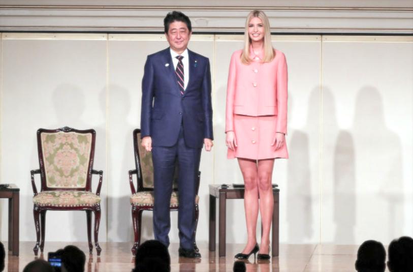 安倍首相+イヴァンカ・トランプ PM Abe + Ivanka Trump in Japan, 4th November 2017