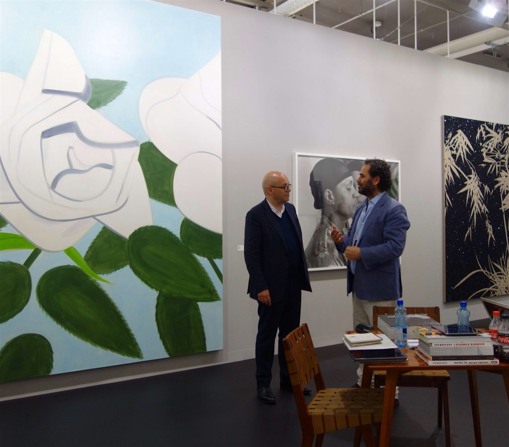 Alex Katz work (left) + Gavin Brown, gallery owner