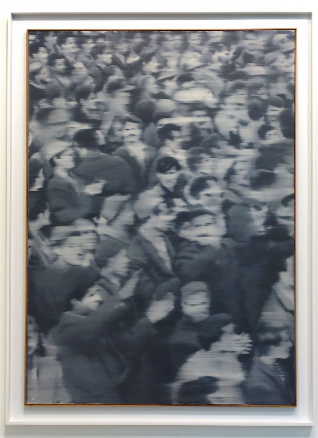 "Gerhard Richter ""Versammlung (Gathering)"" 1966, Oil on canvas, 160 x 114.5 cm sold for US$20m, a record for the gallery at ART BASEL (Art Newspaper)"