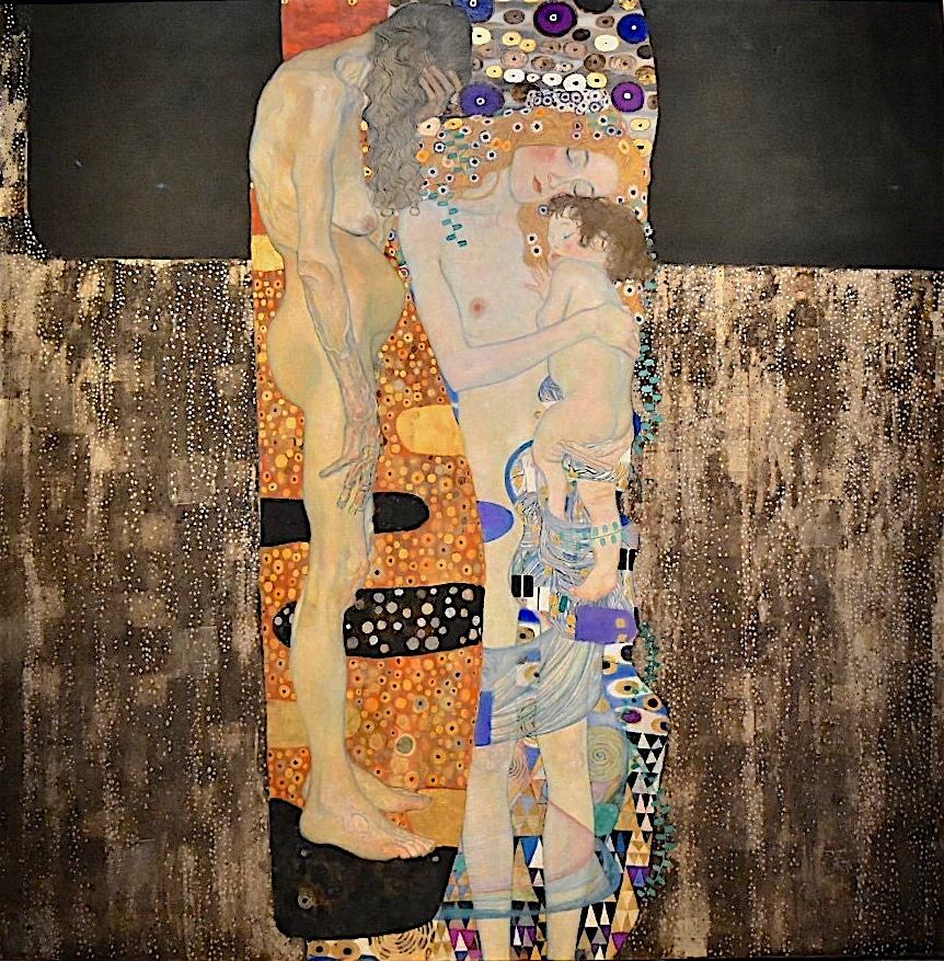 """Gustav Klimt """"Die drei Lebensalter einer Frau"""" 1905, Öl auf Leinwand, 180 x 180 cm"""