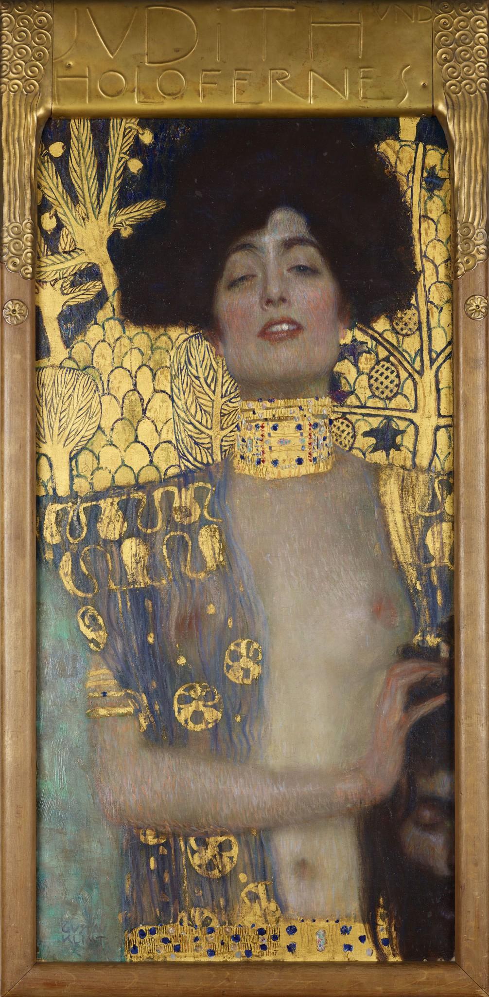 """Gustav Klimt """"Judith und Holofernes"""" 1901, Öl auf Leinwand, 84 x 42 cm"""