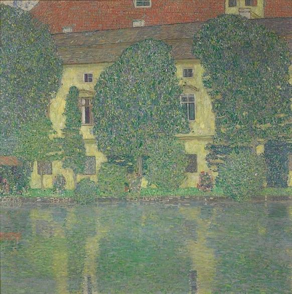 "Gustav Klimt ""Schloss Kammer am Attersee III"" 1909:1910, Öl auf Leinwand, 110 x 110 cm"