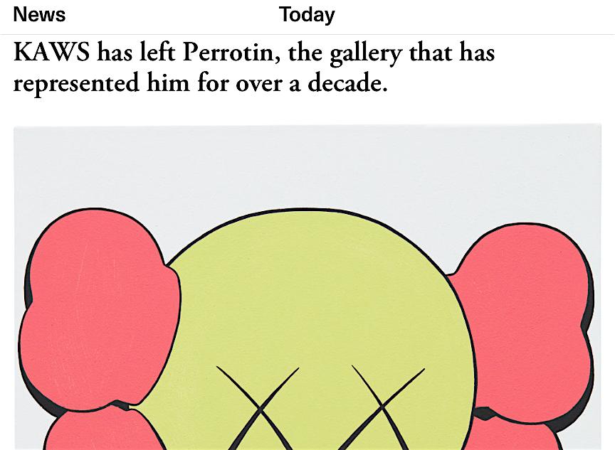 KAWS leaves PERROTIN