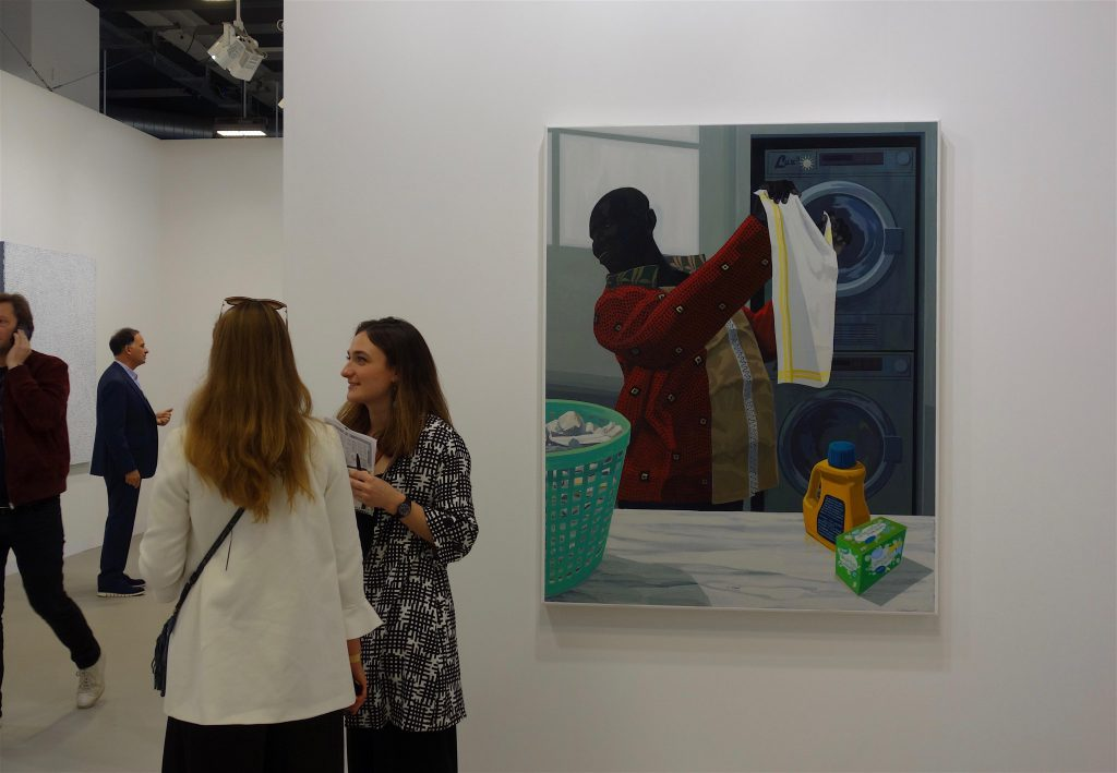 "Kerry James Marshall ""Laundry Man"" 2019, Acrylic on PVC in artist's frame, 153.7 x 123.2 x 7 cm @ David Zwirner"