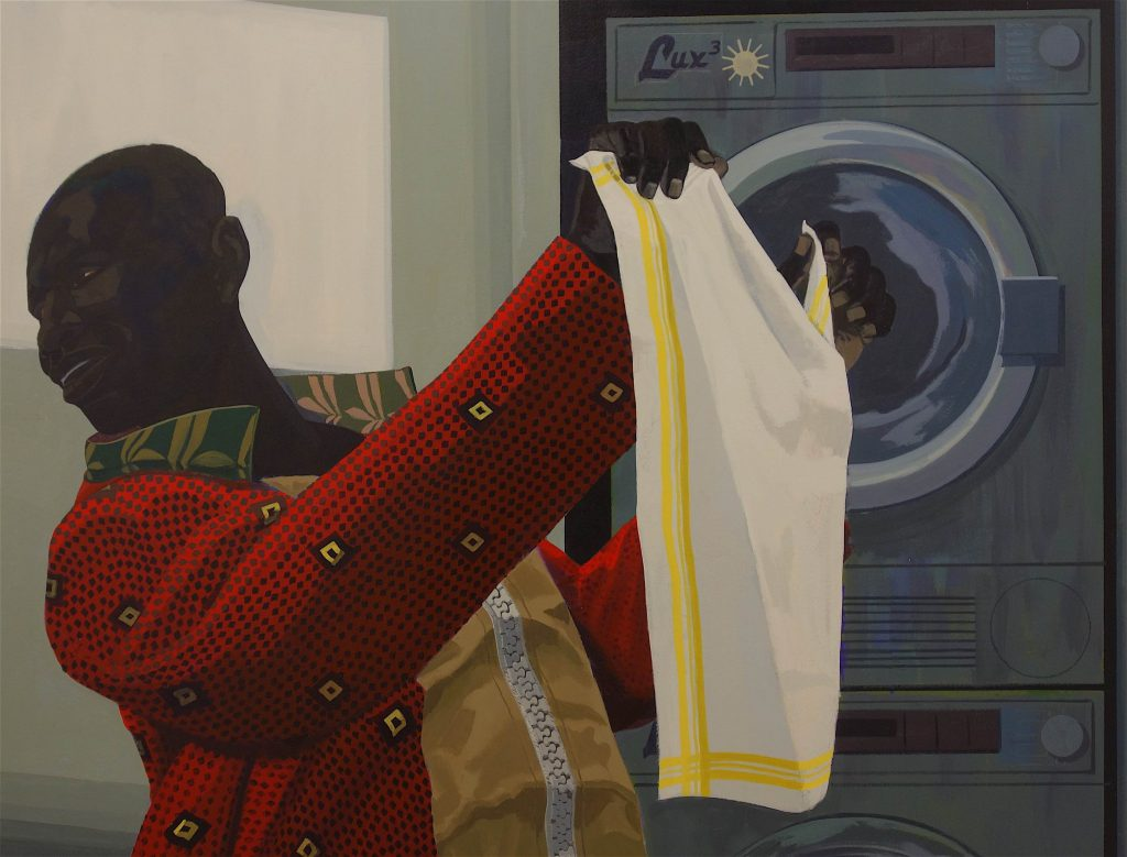 "Kerry James Marshall ""Laundry Man"" 2019, detail"