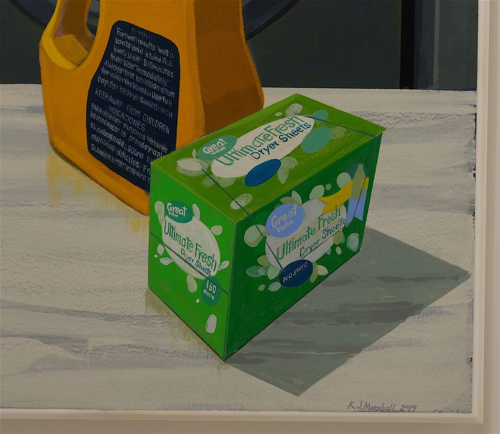 "Kerry James Marshall ""Laundry Man"", detail"