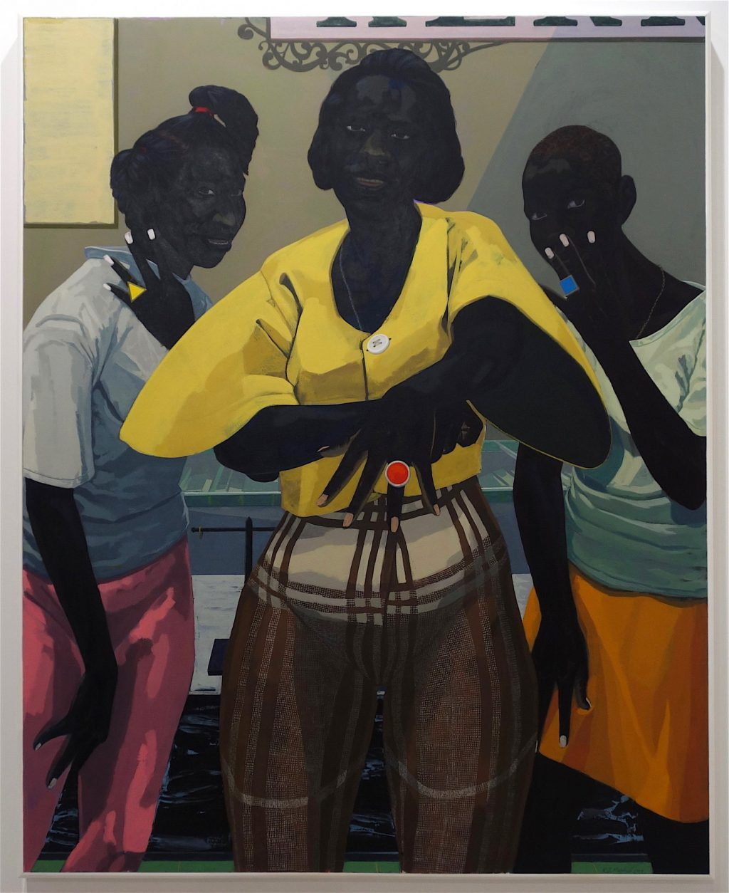 "Kerry James Marshall ""Untitled"" 2019, Acrylic on PVC panel, 60 x 40 inches @ JACK SHAMAN GALLERY, Art Basel 2019"
