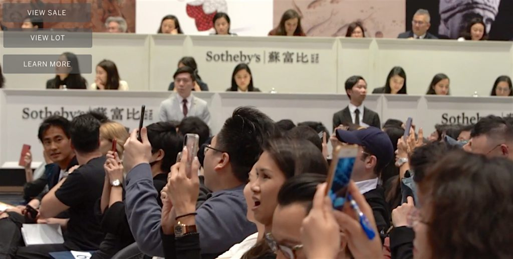 Sotheby's Hong Kong, 1st of April 2019 THE KAWS ALBUM, audience