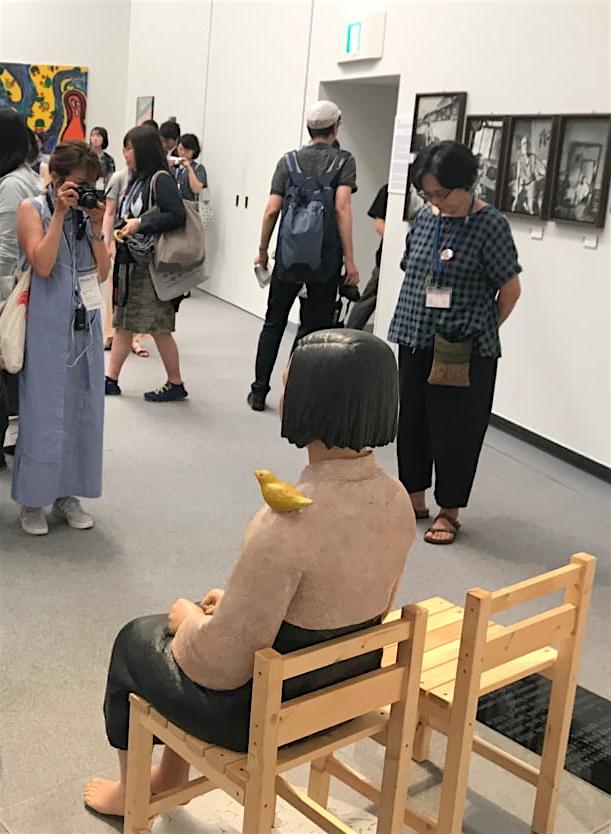 「表現の不自由展・その後」の展示風景