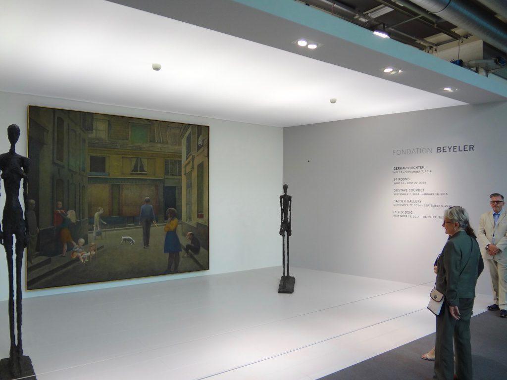 バルテュス「Passage du Commerce-Saint-André」1952-1954年 と Alberto Giacometti作 @ バイエラー財団のブース、アート・バーゼル、スイス 2014年