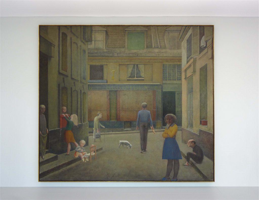 バルテュス「Passage du Commerce-Saint-André」1952-1954年 @ バイエラー財団のブース、アート・バーゼル、スイス 2014年