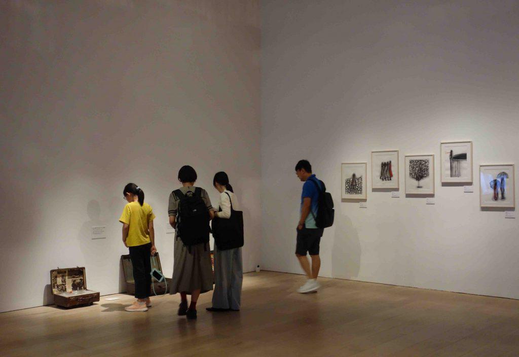塩田千春の展示風景 @ 森美術館