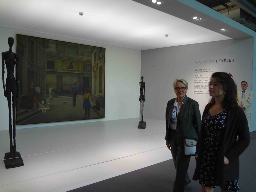 Booth of Fondation Beyeler @ ART BASEL 2014