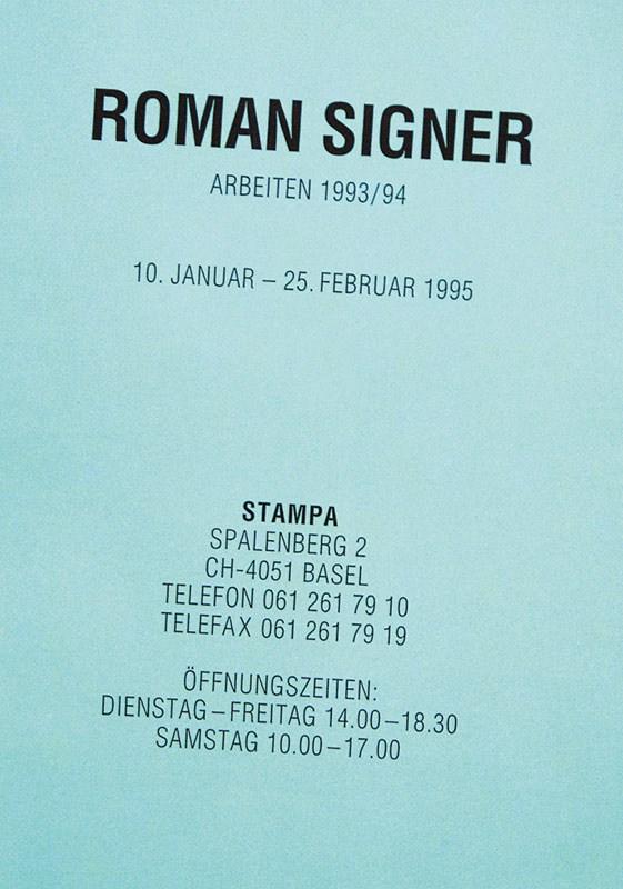 Roman Signer @ STAMPA 1995