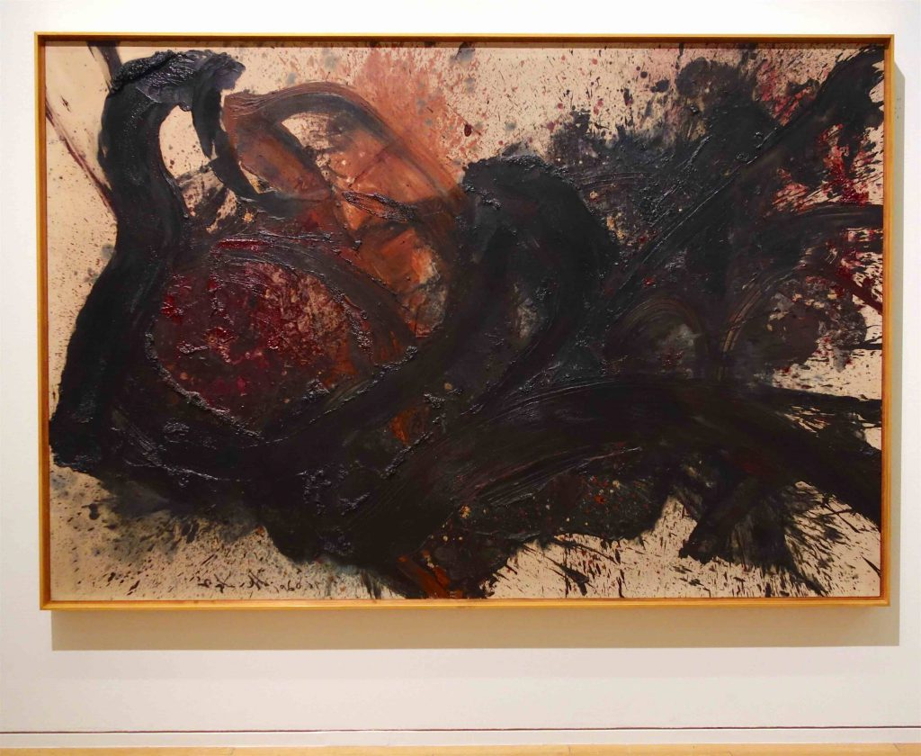 白髪 一雄 SHIRAGA Kazuo 天傷星行者 Tenshosei Gyoja (Harm star pilgrim) 1960 Oil on canvas
