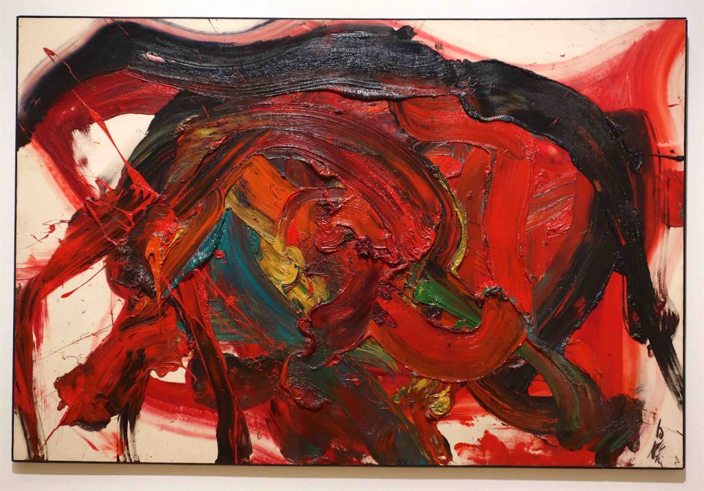 白髪 一雄 SHIRAGA Kazuo 天慧星拚命三郎 (水滸伝豪傑の内)Tenkeisei Hemmei Sanro, a hero of a Chinese story 1964 Oil on canvas