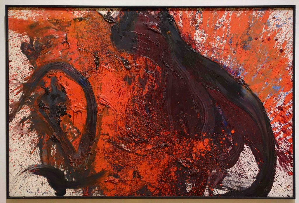 白髪 一雄 SHIRAGA Kazuo 天敗星活閻羅 Tenpaisei Katsuenra 1960 Oil on canvas