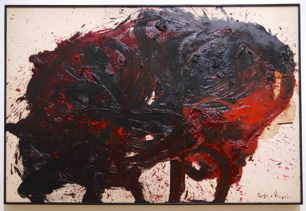 白髪 一雄 SHIRAGA Kazuo 天罪星短命二郎 Tenzaisei Tanmeijiro 1960 Oil on canvas