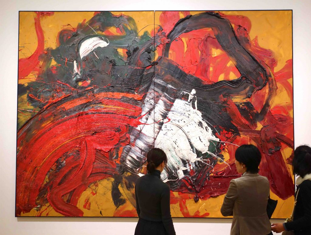 白髪 一雄 SHIRAGA Kazuo 平治元年十二月二十六日 December 26, the first year of Heiji (the year 1160) 1966 Oil on canvas