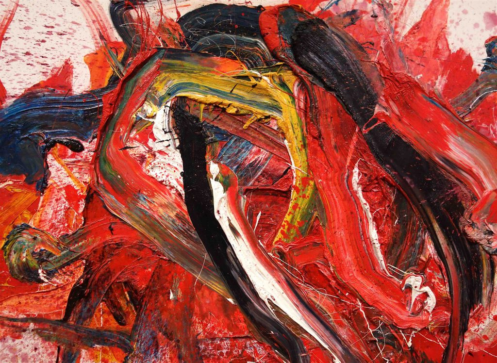 白髪 一雄 SHIRAGA Kazuo 煬帝 Yodai 1979 Oil on canvas, detail1