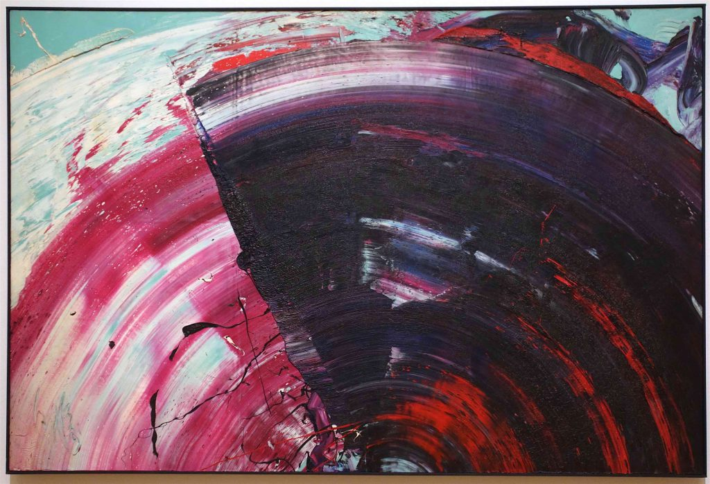 白髪 一雄 SHIRAGA Kazuo 色絵 Iroe (color picture) 1966 Oil on canvas