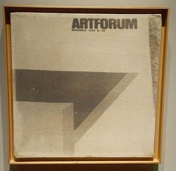John Baldessari ARTFORUM 1966-67 Photographic emulsion and acrylic on canvas