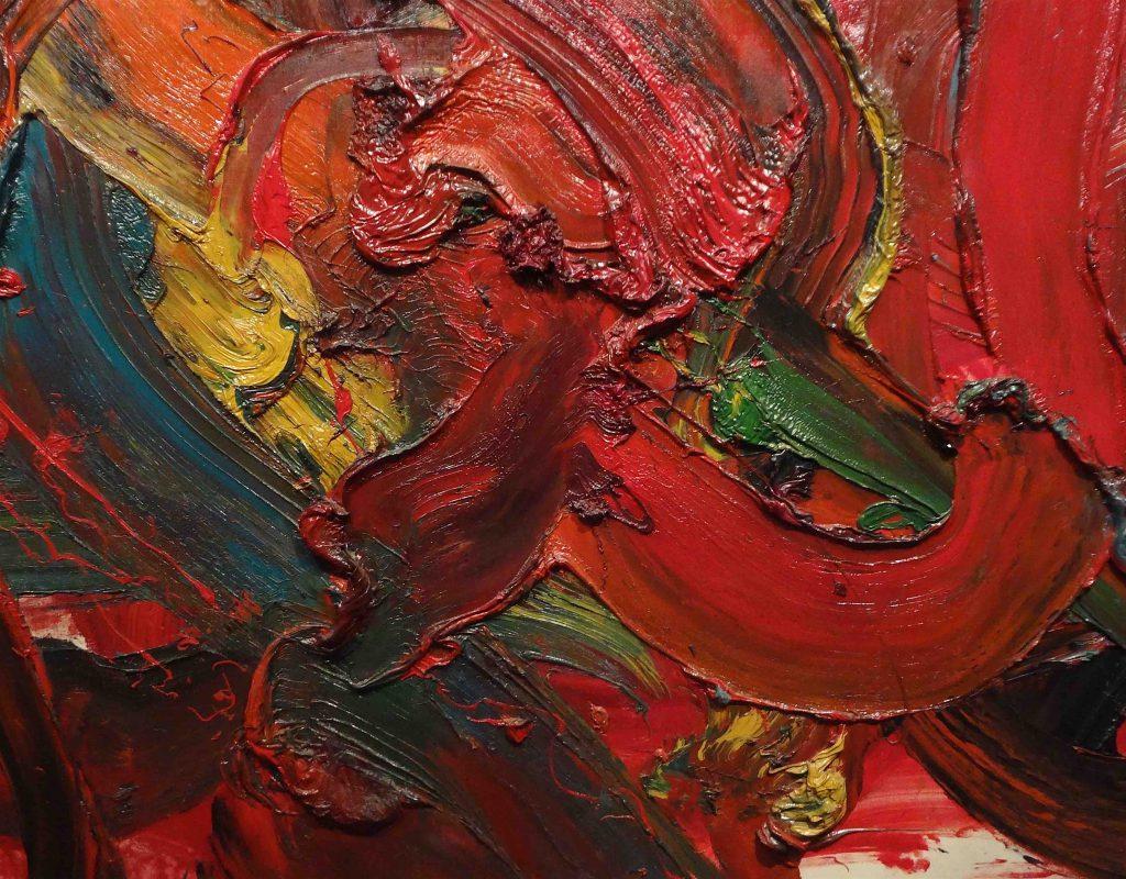 白髪一雄 SHIRAGA Kazuo 天慧星 命三郎, detail, 東京国立近代美術館, The National Museum of Modern Art, Tokyo