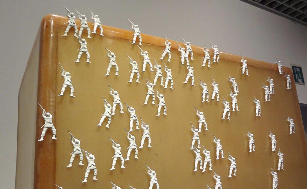 """村上隆 MURAKAMI Takashi """"Polyrhythm"""" 1991 FRP, Iron, Tamiya 1:35 scale military miniature models of U.S. Infantry (West European Theater) detail"""