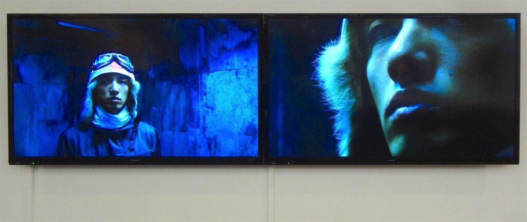 "KOIZUMI Meiro 小泉明郎 ""Portrait of a young samurai"" 2009, 2 channel video and sound installation. MURAKAMI Takashi Collection"