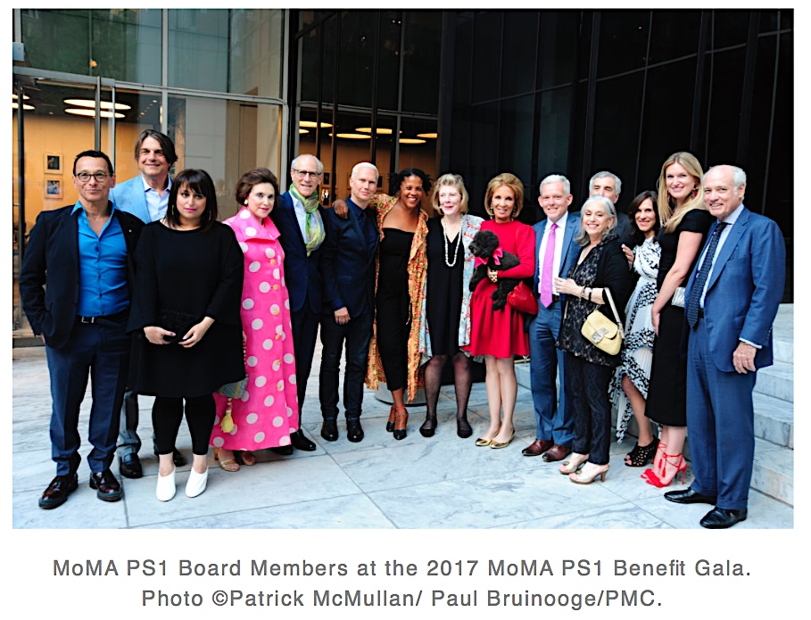 MoMA PS 1 Board Members 2017, screenshot from artnet