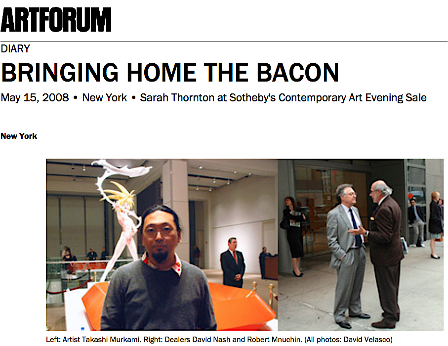 screenshot from artforum's website (Art historical moment for Japanese Contemporary Art)