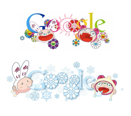 summer:winter equinox w: kawaii doodles for Google 2011:6:21