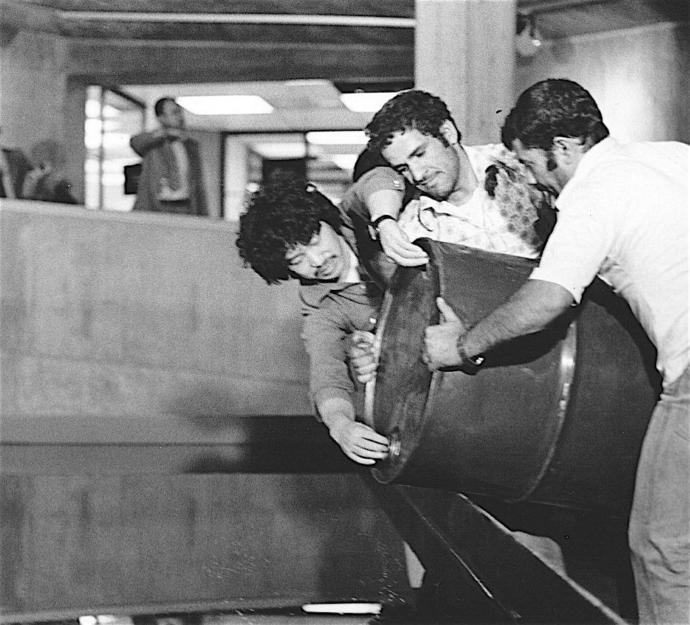 原口典之 Oil Poolの制作 テヘラン 1977年