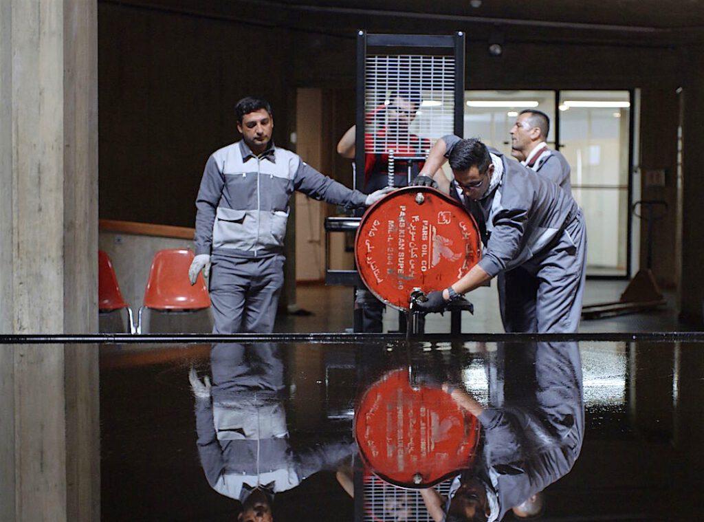 原口典之 Oil Pool作の修復、テヘラン2017年 (スクリーンショット)