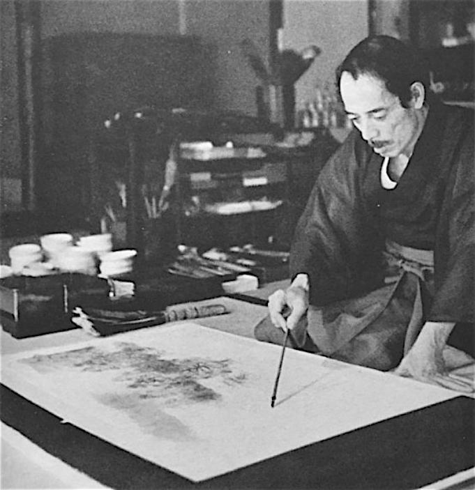 横山大観 YOKOYAMA Taikan アトリエ 昭和13年(1938年)