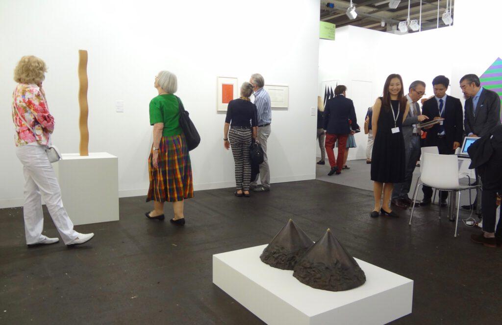 """関根伸夫 SEKINE Nobuo """"Phase of Nothingness – Two Circular Cones"""" 1975 @ Tokyo Gallery + Beijing Tokyo Art Projects (in front), Art Basel 2015"""