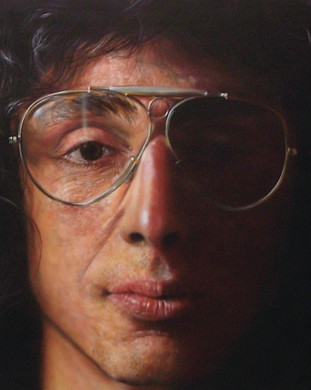 """Ben Schonzeit 'Joseph Giummo' 1977, acrylic on canvas 182.8 x 182.8 cm, detail @ """"picturing america"""" Deutsche Guggenheim Berlin 2009"""