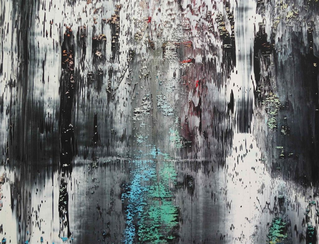 Gerhard Richter ゲルハルト・リヒター 個展 Abstraktes Bild作 部分 @ Beyeler Fondation Riehen 2014